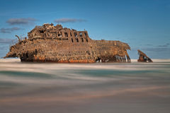 Ghost Ship. Famous Shipwreck on the North Coast of Boa Vista, Cape Verde Royalty Free Stock Photo