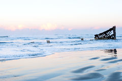 Ghost ship. Historic shipwreck of Peter Iredale, Fort Stevens State Park, Oregon Stock Photos