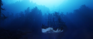 Ghost Ship royalty free illustration