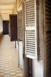 Ghost shutters. S21 memorial genocide museum Phnom Penh cambodia Stock Image