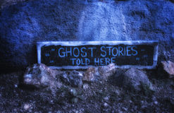 Ghost Stories. Headstone in cemetery Royalty Free Stock Image