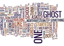 Ghost Stories Word Cloud Concept Stock Images