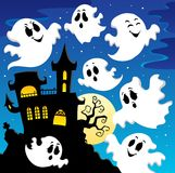 Ghost theme image 2. Vector illustration Stock Photos