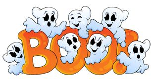 Ghost theme image 7. Eps10 vector illustration Stock Photography