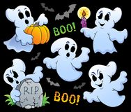 Ghost theme image 8. Eps10 vector illustration Stock Photos
