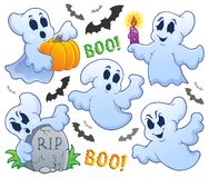 Ghost theme image 9. Eps10 vector illustration Stock Photos