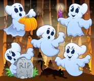 Ghost topic image 3. Eps10 vector illustration Stock Images