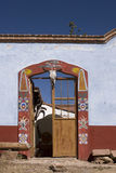 Ghost town. Decorated entrance in Mineral de Pozos located at the state of Guanajuato, Mexico Royalty Free Stock Photo