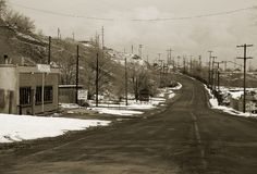 Ghost town. Desolated mining town Stock Image
