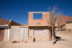 Ghost Town. An unfinished house in the town of Tupiza in the South of Bolivia Royalty Free Stock Photo