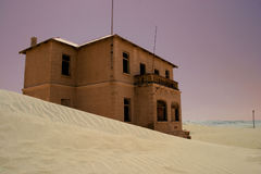 Ghost Town. House in ghost town in the Namibian desert Stock Image