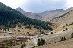 Ghost town in the alpin loop stock images