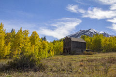 Ghost Town in the Autumn Royalty Free Stock Images