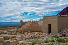 Rhyolite Ghost Town Bank Vault stock images