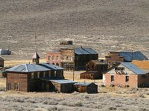 Ghost town of Bodie California. Once-thriving city of Bodie California, now a ghost town Stock Image