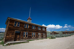 Ghost town building. Old  wooden school  in a ghost town, Bodie, California Stock Images