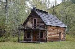 Ghost town cabin stock photography