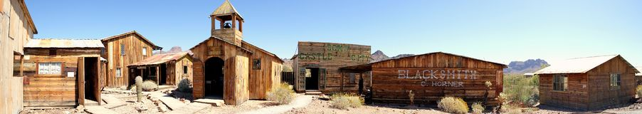 Ghost Town - Castle Dome Silver Mining Town Stock Photo