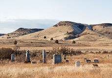 Ghost Town Cemetery. RnAn old cemetery in the ghost town of Antelope, Oregonrnrnrn stock photo
