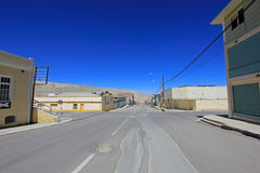 Ghost town Chuquicamata, Chile. Ghost town of Chuquicamata, Chile near the copper mine royalty free stock photography