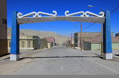 Ghost town Chuquicamata, Chile stock images