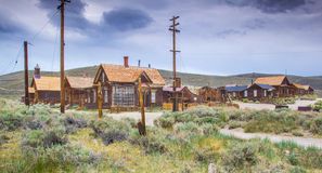 Ghost Town. Corner of Green and Park Streets in Gold Mining Ghost Town of Bodie, California stock photography