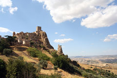 Ghost town of Craco. The abandoned village of Craco in Basilicata (Italy). This town was abandoned in 1963 cause landslide. Insert in the Watch List 2010 of WMF Stock Image