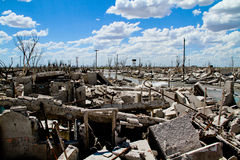 Ghost-Town - Epecuen, Argentina Royalty Free Stock Image
