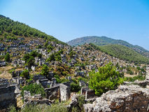 Ghost town,fethiye Royalty Free Stock Photos
