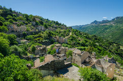 Ghost town Gairo Vecchio (Sardinia, Italy) Royalty Free Stock Image