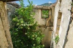 Ghost town Gairo Vecchio (Sardinia, Italy) Royalty Free Stock Photos