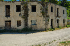 Ghost town Gairo Vecchio (Sardinia, Italy) Stock Photos