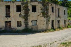 Ghost town Gairo Vecchio (Sardinia, Italy) Stock Photos