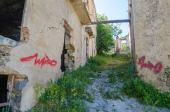 Ghost town Gairo Vecchio (Sardinia, Italy) Stock Photo