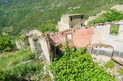 Ghost town Gairo Vecchio (Sardinia, Italy) Stock Photography