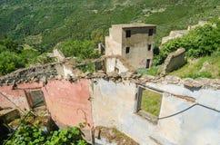 Ghost town Gairo Vecchio (Sardinia, Italy) Stock Images