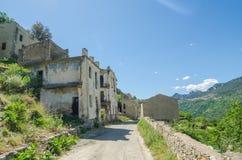 Ghost town Gairo Vecchio (Sardinia, Italy) Stock Image