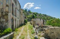 Ghost town Gairo Vecchio (Sardinia, Italy) Royalty Free Stock Photography