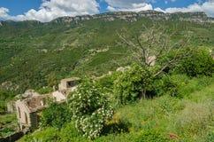 Ghost town Gairo Vecchio (Sardinia, Italy) Royalty Free Stock Images