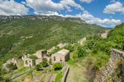 Ghost town Gairo Vecchio (Sardinia, Italy) Stock Photo