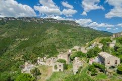 Ghost town Gairo Vecchio (Sardinia, Italy) Royalty Free Stock Photo