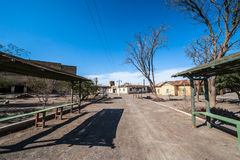 Ghost Town Humberstone in Atacama, Chile Royalty Free Stock Photos