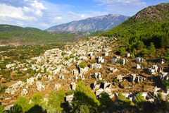 The ghost town Kayaköy. Turkey Royalty Free Stock Photography