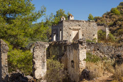 Ghost town (Kayakoy), Turkey Royalty Free Stock Images