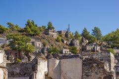 Ghost town (Kayakoy), Turkey Royalty Free Stock Image