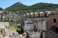 Ghost town of Kayakoy, Turkey Royalty Free Stock Images