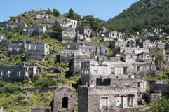 Ghost town of Kayakoy, Turkey Royalty Free Stock Photo