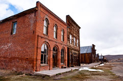 Ghost town main stree. Main street of bodie, ca ghost town Royalty Free Stock Photos