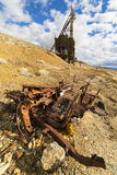 Ghost town mining head frame in the Nevada desert Royalty Free Stock Photo