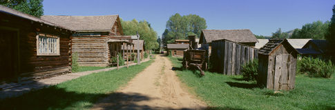 Ghost Town in Nevada City. Montana Stock Photos